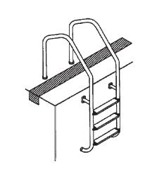 Лестница Munich 3 ступени, для перелива - изображение 3