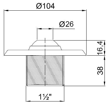 Впускная форсунка под бетон Pahlen , нерж. сталь - изображение 2