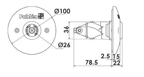 Стеновая форсунка с распорным креплением ∅ 50/63 из кислотостойкой нержавеющей стали. - изображение 2