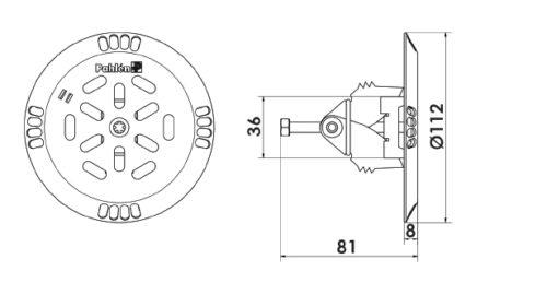 Донная форсунка PAHLEN 50/63 мм из кислотостойкой нержавеющей стали. - изображение 2