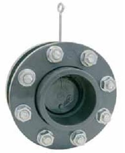 Обратный клапан лепестковый с пружиной, с фланцами 140 мм