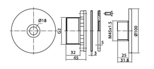 "Форсунка Fitstar нар.резьба 1,5"", длина 40 мм, под пленку, ∅ шарика 18 мм - изображение 2"