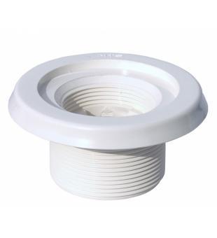"""Закладной элемент R 2"""" присоединение 50 мм, белый ABS – длина 40 мм"""
