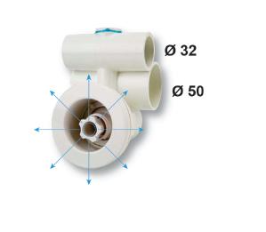 Гидромассажная форсунка направляющая, наружный диаметр — 90 мм - изображение 2