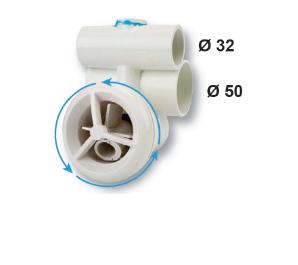 Гидромассажная форсунка вращающаяся, наружный диаметр — 90 мм - изображение 2