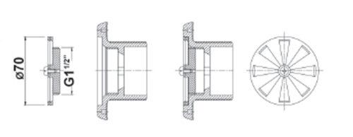 """Регулятор R 11/2"""" ABS – регулир. кол-ва воды, регулирование расхода воды в основном элементе - изображение 2"""