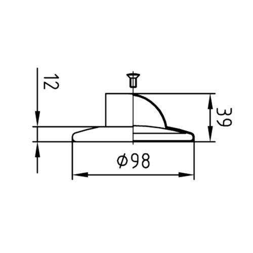 Верхняя часть форсунки Fitstar с боковым выходом (широкая ракушка) с прижимным фланцем - изображение 2