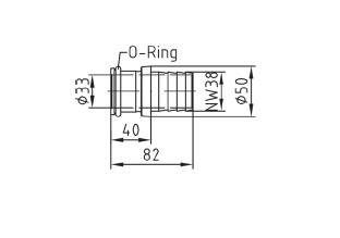 Насадка на шланг для форсунки пылесоса Fitstar нерж сталь. с О-кругом - изображение 2
