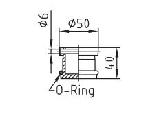 Заглушка для форсунки пылесоса Fitstar нерж сталь с О-кругом - изображение 2