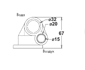 Минифорсунка 24 белая (ABS) - изображение 2