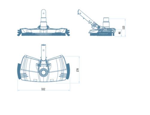 Щетка вакуумная овальная с боковым ворсом, Shark (Astral) - изображение 2