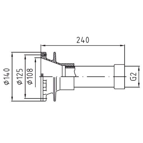 Закладной элемент заборного устройства FitStar Combi Whirl резьба 2″ под бетон - изображение 2