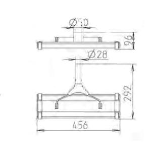 Щетка для пылесоса алюминиевый корпус 456 х 292 мм - изображение 2