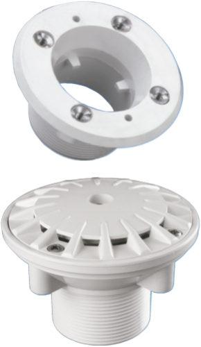 Донная форсунка Kripsol, 14 м3/ч, закрывающаяся 0–100 %, под бетон, присоединение 50 мм
