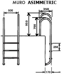 Лестница ассиметричная , четыре ступени (MURO) - изображение 2