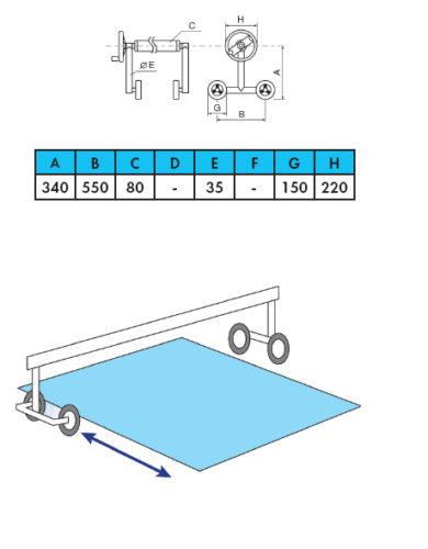 Ролета навивочная мобильная двусторонняя 4,4 м - изображение 2