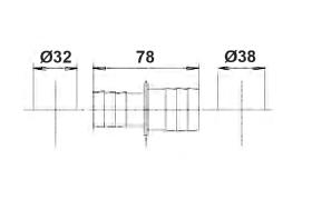 Соединение для шланга, диаметр 32/38 мм - изображение 2
