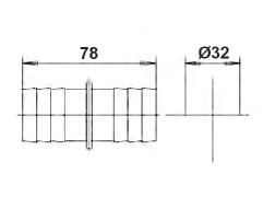Соединение для шланга, диаметр 32 мм - изображение 2