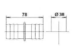 Соединение для шланга, диаметр 38 мм - изображение 2