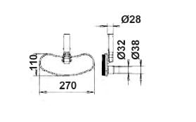Щетка для пылесоса овальная 270 х 110 мм - изображение 2