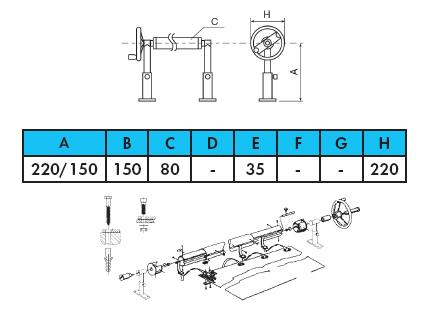 Ролета навивочная с регулировкой высоты в комплекте — 5,4 м - изображение 2