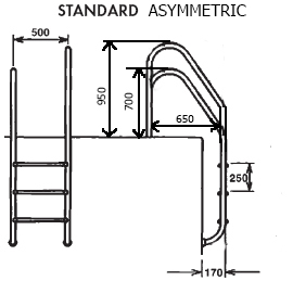 Лестница ассиметричная , пять ступени (STANDARD) - изображение 2