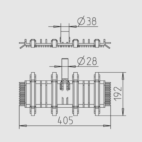 Щетка для пылесоса гибкая Single Flex 405 х 192 мм с боковой ворсой - изображение 2