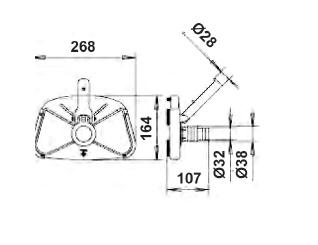 Щетка для пылесоса Standart 268 х 164 мм - изображение 2