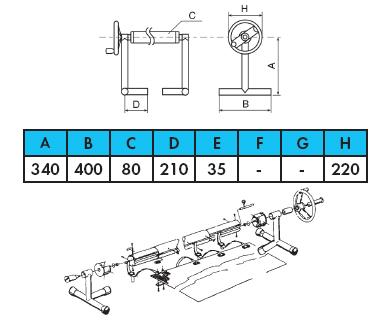 Ролета навивочная передвижная — т- стойки в комплекте — 7,1 м - изображение 2