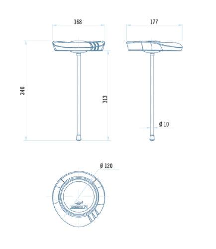 Термометр диаметр 17 см серии Shark - изображение 2