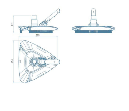 Щетка треугольная для пылесоса серии Shark - изображение 2