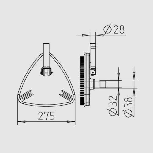 Щетка для пылесоса треугольная 275 х 275 х 275 мм - изображение 2