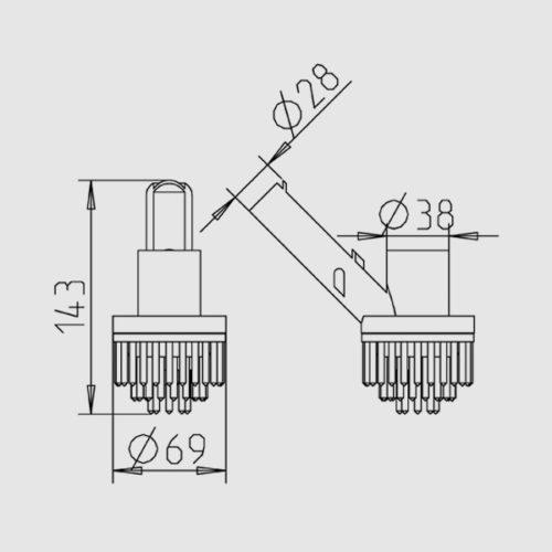 Угловая щетка, присоединение 38 мм - изображение 2