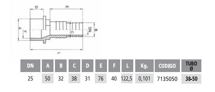 Насадка на шланг клеевая длинная 50-38/32 мм - изображение 2