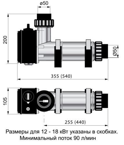 Электронагреватель 18 кВт , пластиковый - изображение 2