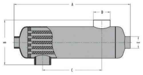 Теплообменник B130.FF 38кВт трубчатый - изображение 4