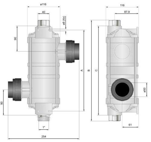 Теплообменник Hi-Temp Titan 75 кВт - изображение 2