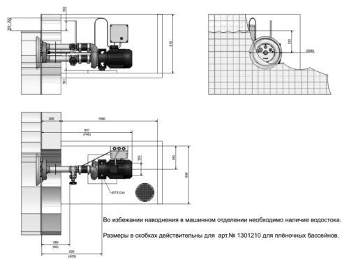 Устройство противотечения Jet Swim 1200 под пленку - изображение 2