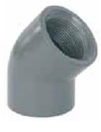 Колено 45° 90 мм х  3″ резьба внутренняя