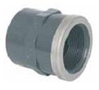 Муфта с внутренней резьбой 20 мм х 1/2″ с металлическим кольцом