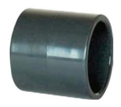 Муфта переходная клеевая ПВХ с серой на белую трубу 20 — 63 мм х 1/2″ — 2″ (белая)