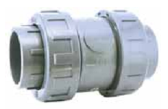 Обратный клапан с пружиной 25 мм клеевой