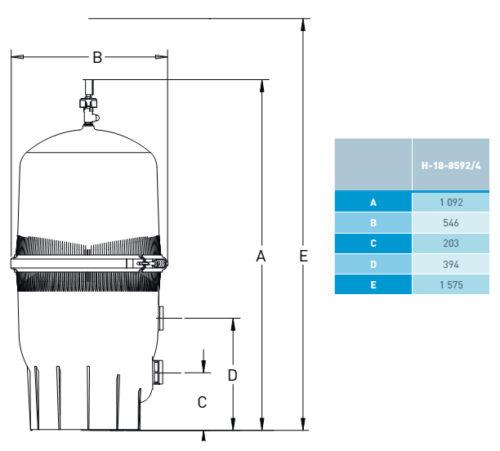 Фильтр QUAD D.E., диаметр 546 мм, производительность 20,4 м3/ч - изображение 2