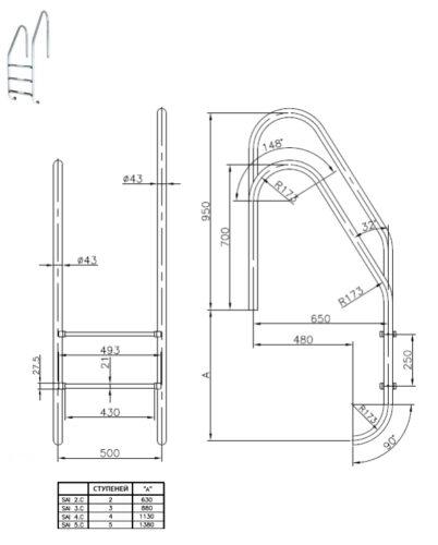 Лестницы ассиметричные серия STANDARD - изображение 2