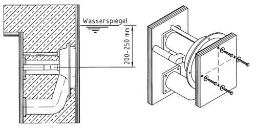 Закладная противотечения Taifun для готовых чаш 165 мм - изображение 2