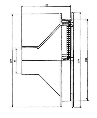 Забор воды 40 м3/ч, с фланцем под пленку, присоединение клейкой 90 мм - изображение 3