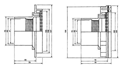 Забор воды 10 м3/ч, с фланцем под пленку, присоединение 63 мм - изображение 2
