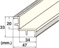 Уголок переливного желоба Kripsol — длина 2 м, наружный, 34х20 мм