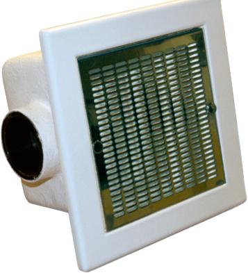 Донный слив для пленочных коммерческих бассейнов 480×480 мм 66 м3/час, пластик, нерж.накладка, подключение 140 мм.