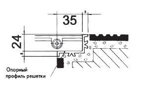 Угол переливного желоба Astral — длина 2м. 35х22х24мм. - изображение 2